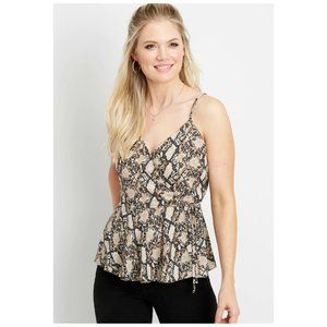 * NWT Maurices Snake Reptile Spaghetti Strap Top